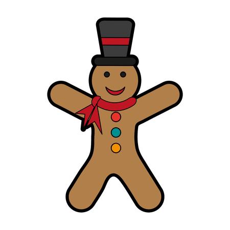 gingerbread man cookie icon image vector illustration design Illustration