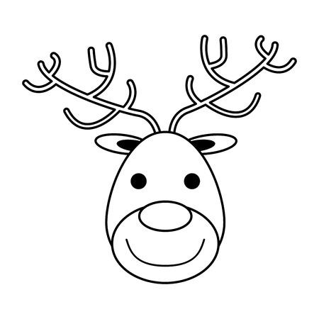 Rudolph het ontwerp van de het beeld vectorillustratie van het rode neusrendier met Kerstmis verwant pictogram Stock Illustratie