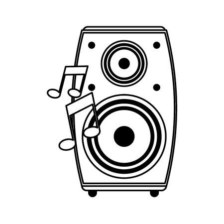 single speaker icon image vector illustration design Illustration