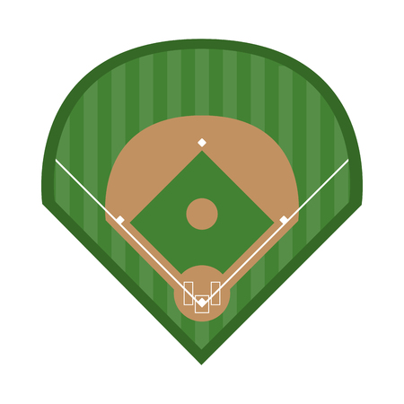 field baseball related icon image vector illustration design Illustration