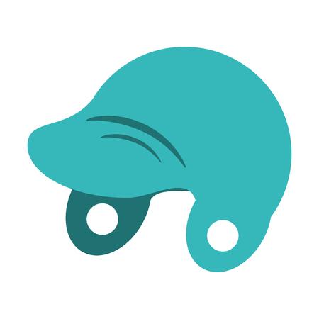 helmet baseball related icon image vector illustration design