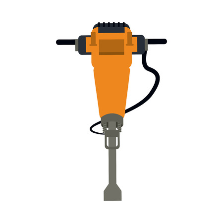earth mover: jackhammer heavy machinery icon image vector illustration design