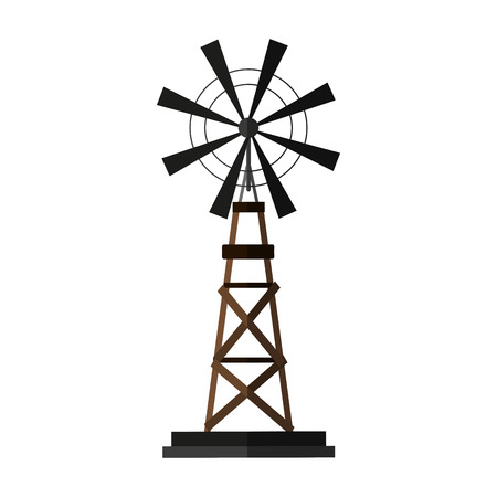 windmill rural icon image vector illustration design Illustration