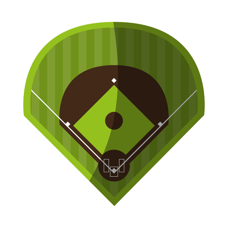 field baseball related icon image vector illustration design Illustration