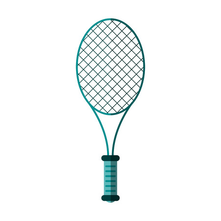 racquet tennis related icon image vector illustration design
