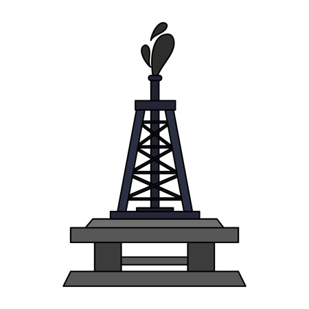 oceanic extraction platform oil industry related icon image vector illustration design