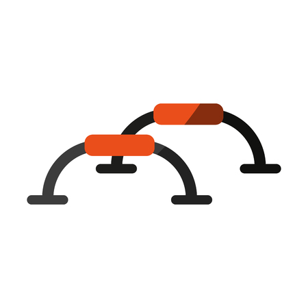 nutritional: push up bars exercise accessory icon image vector illustration design