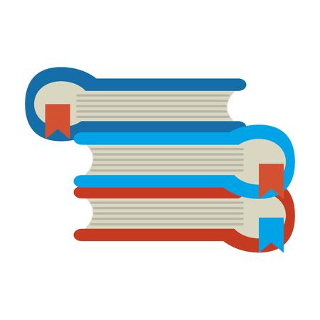 book pile icon image vector illustration design Illustration