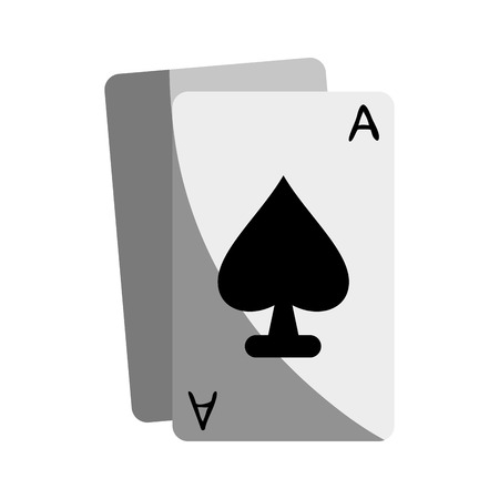 Ace Of Spades Icon Image Vector Illustration Design Royalty Free