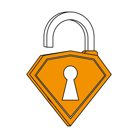 unlocked diamond lock icon vector illustration design graphic silhouette Illustration
