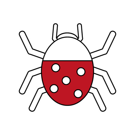 Wonderful ladybug insect illustration icon vector design graphic silhouette Illustration