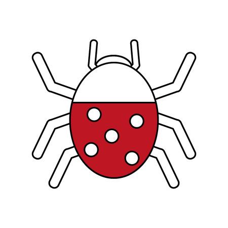 blade: Wonderful ladybug insect illustration icon vector design graphic silhouette Illustration