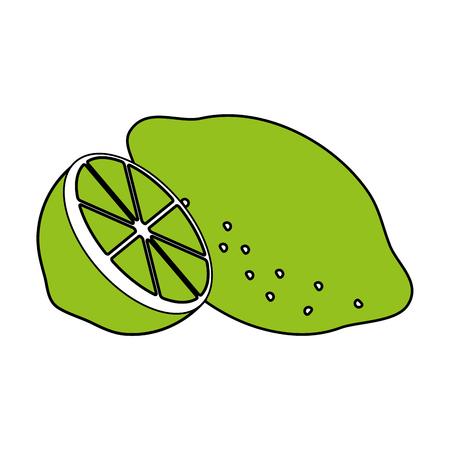 Lemon citrus refreshing icon vector design illustration graphic silhouette Illustration