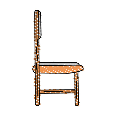 conformity: Colorful chair doodle over white background vector illustration Illustration