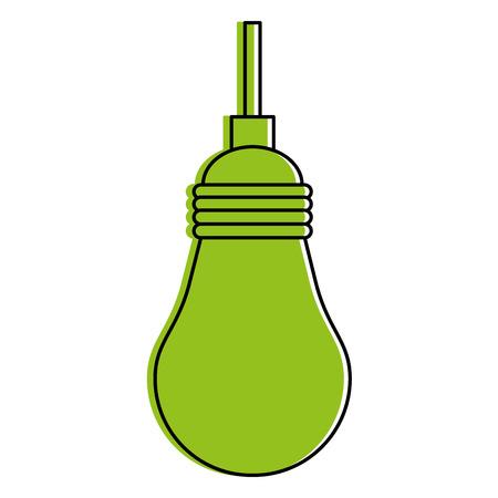 Green monocromatic light bulb design over white background vector illustration Illustration