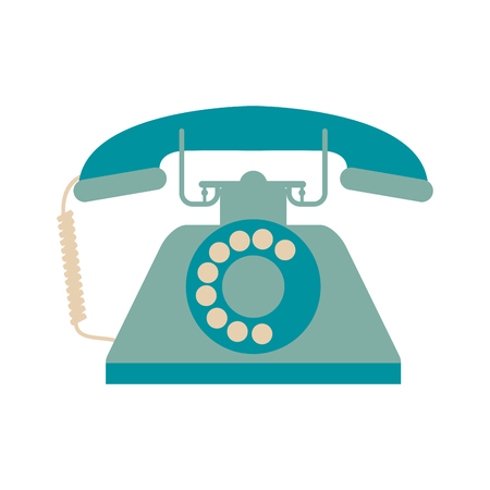 Vintage rotary phone icon image vector illustration design Illustration