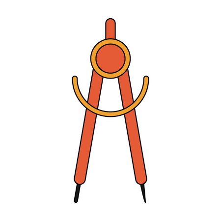 Drawing compass icon image vector illustration design