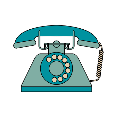 Vintage rotary phone icon image vector illustration design Çizim