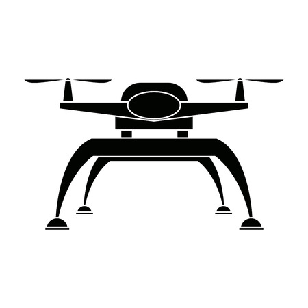 Drone technology unmanned aerial vehicle icon vector illustration