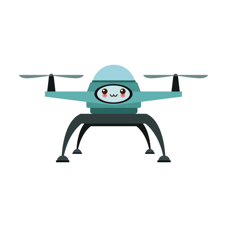 drone technology unmanned aerial vehicle icon illustration