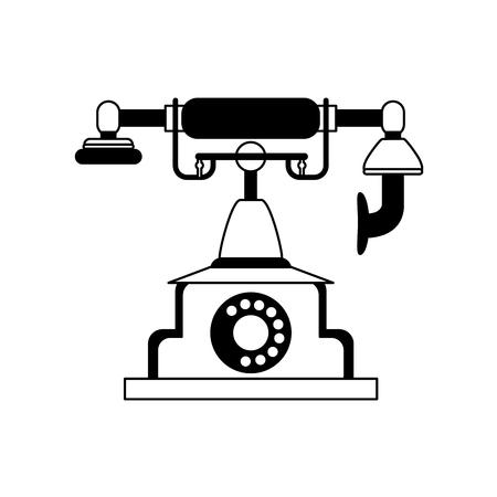 icône de téléphone vintage vintage image vintage de conception de téléphone portable et blanc