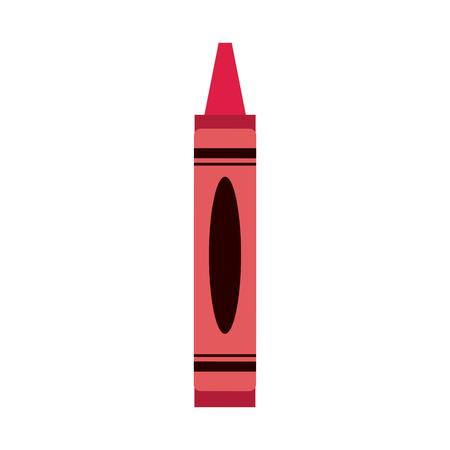 rood kleurpotlood pictogram afbeelding vector illustratie ontwerp