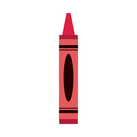 red crayon color icon image vector illustration design
