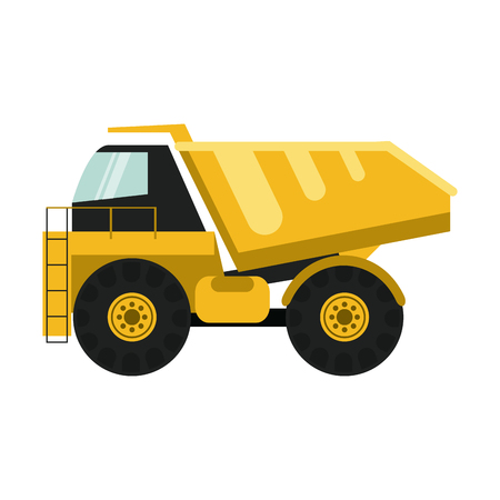 dump truck construction heavy machinery icon image vector illustration design
