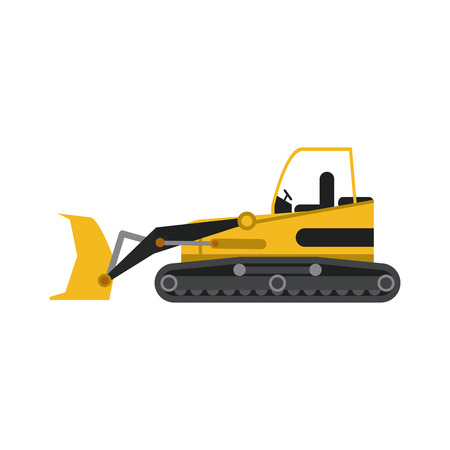 earth mover: backhoe construction heavy machinery icon image vector illustration design Illustration