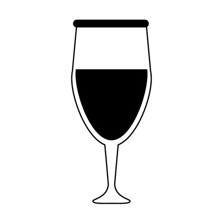 Glass of wine icon image vector illustration design  black and black and Stock Vector - 84673254