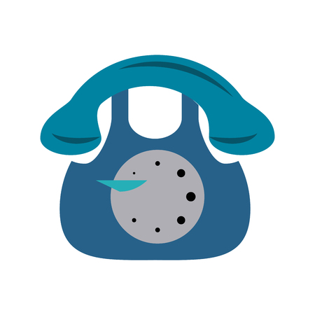 vintage rotary telephone icon image vector illustration design Illustration
