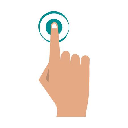 Finger tapping icon image vector illustration design Illustration