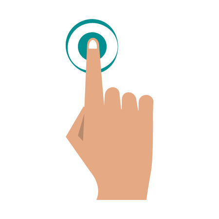 Finger tapping icon image vector illustration design Illustration