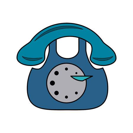 vintage rotary telephone icon image vector illustration design Illustration