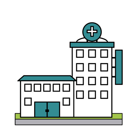 er: hospital building icon image vector illustration design