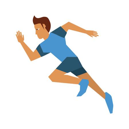 running man avatar sideview icon image vector illustration design