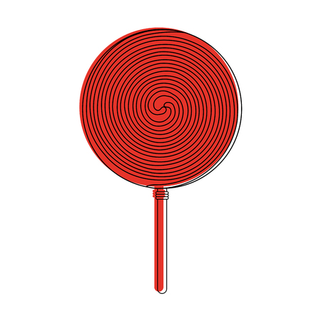 lollipop candy icon image vector illustration design  red color
