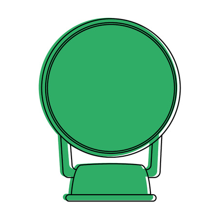 small mirror icon image vector illustration design  green color Illustration