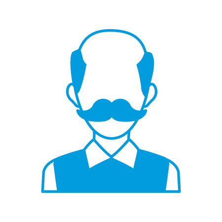 male avatar profile picture employee work vector illustration