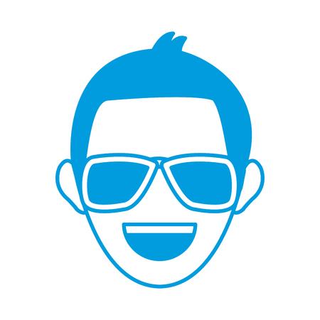 man face character people work profile image vector illustration Illustration