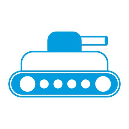 world war battle tank aiming cannon to side vector illustration Illustration
