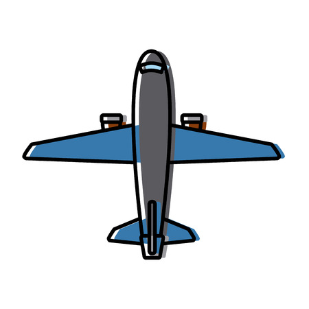 commercial air shipping service delivery transportation company vector illustration