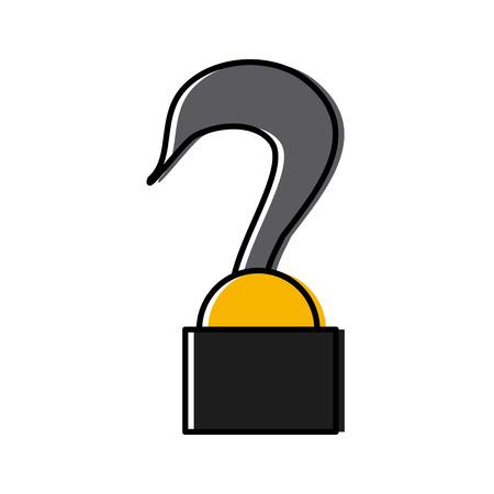 kraan haak vracht metalen concept pictogram vectorillustratie