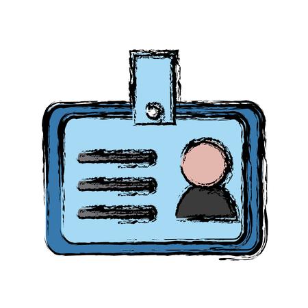 id card corporate personal identity company icon vector illustration