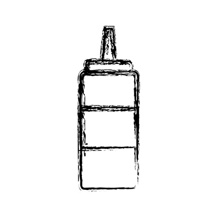 dressing: sauce bottle condiment ingredient cooking linear icon Illustration