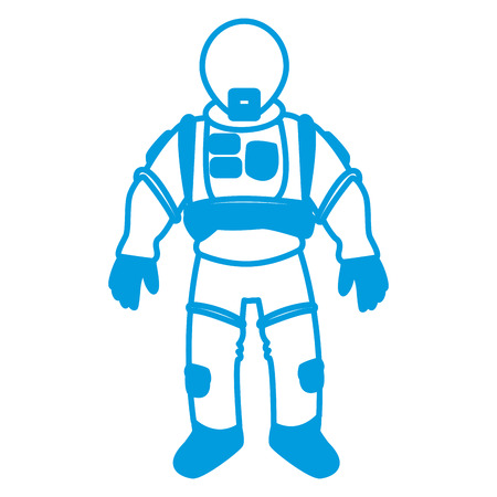 space suit helmet protective for astronaut vector illustration