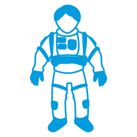 spacesuit: astronaut space suit people science astronomy on white background vector illustration
