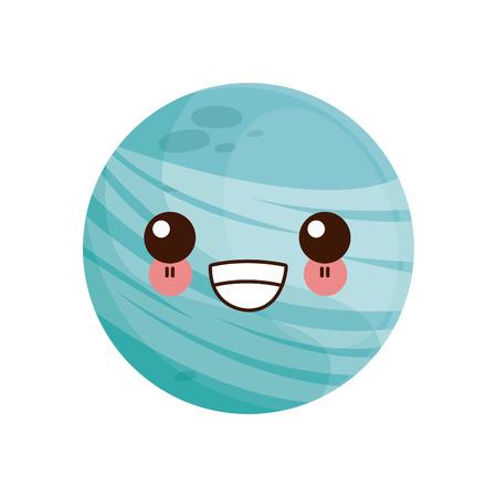 planet of the solar system cartoon image vector illustration