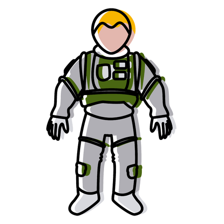 astronaut space suit people science astronomy on white background vector illustration
