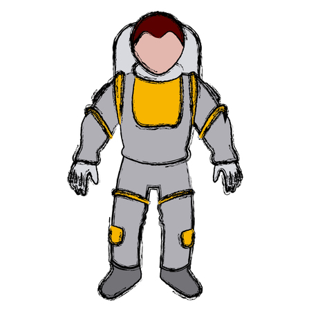 spacesuit: astronaut space suit people science astronomy vector illustration